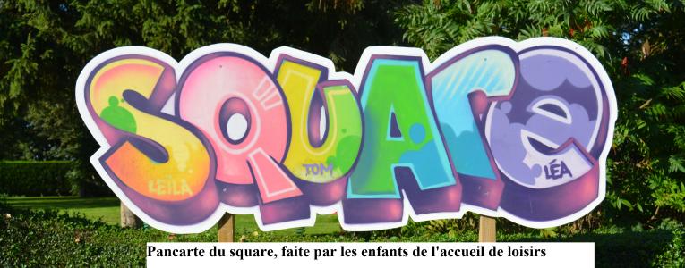 Pancarte du square